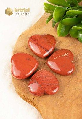 Rode Jaspis Hart - 4,5 cm
