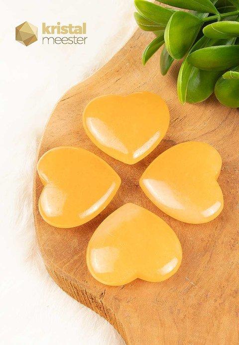 Calciet Hart Oranje - 4,5 cm