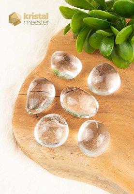 Bergkristal trommelstenen EX - maat L