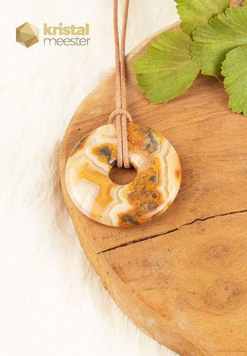 Crazy Lace Agaat donut - 40mm