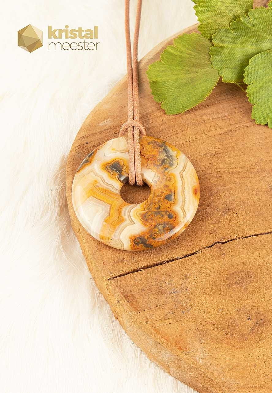 Crazy Lace Agaat donut - 40mm-2