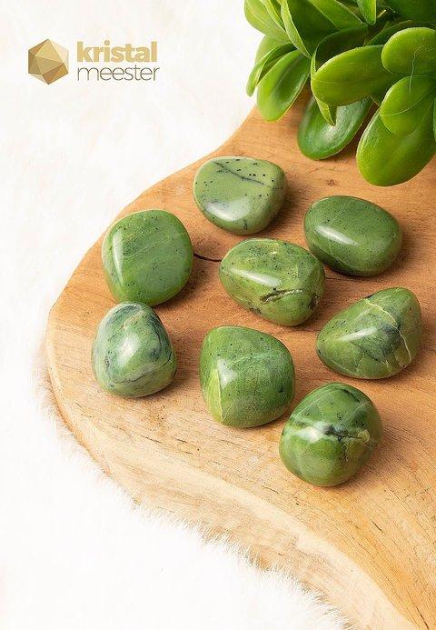 Jade trommelstenen - maat L