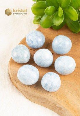 Blauwe Calciet trommelstenen