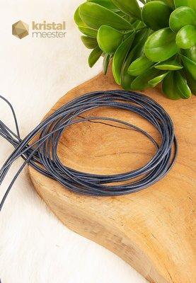 Leren veter donker blauw - nr. 3