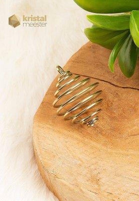 Goudkleurige spiraalhanger voor kogelvormige steen