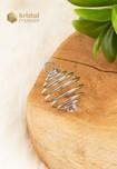 Zilverkleurige spiraalhanger voor kogelvormige steen