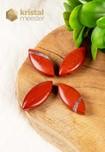 Rode Jaspis hanger - ovaal