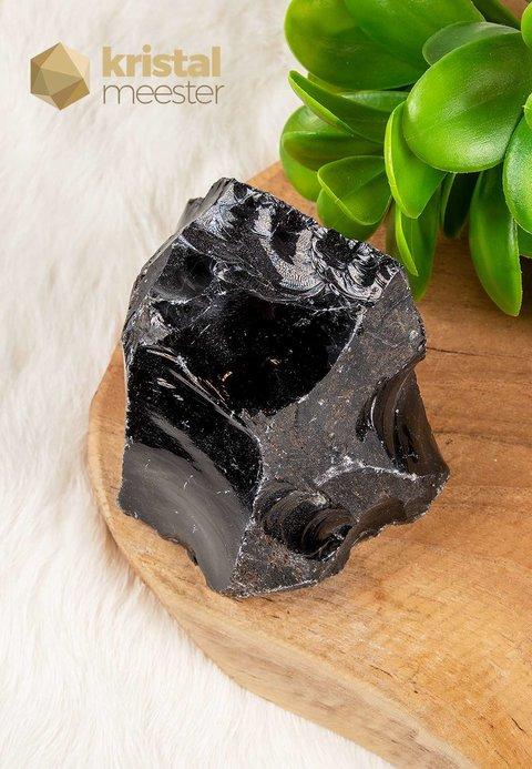 Zwarte Obsidiaan ruw - nr. 1