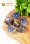 Blauwe Chalcedoon trommelstenen EX - maat M