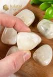 Maansteen trommelstenen wit EX - Maat L