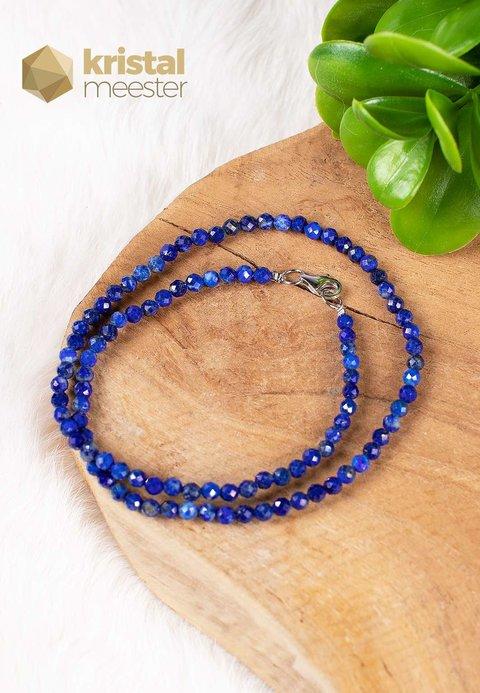 Lapis Lazuli facet geslepen ketting - 45 cm