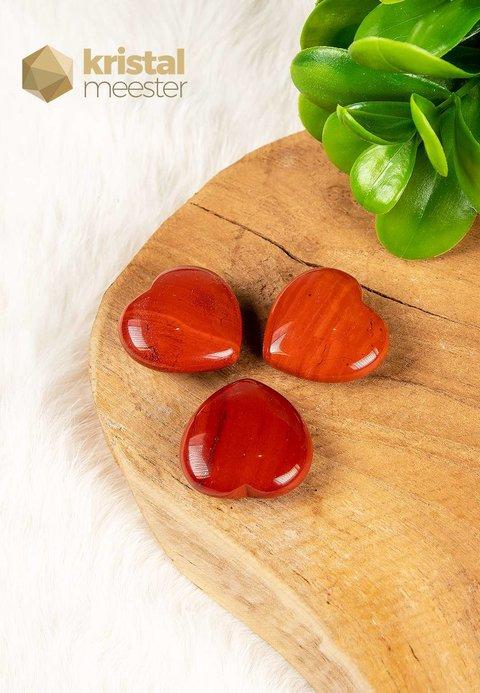 Rode Jaspis Hartje - 30 x 30 mm