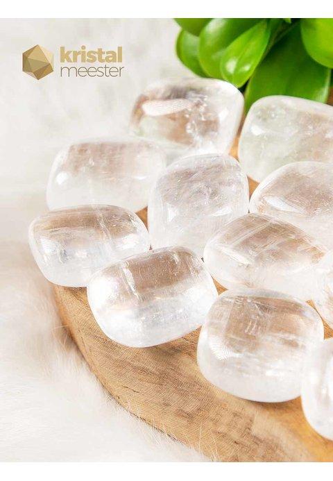 Witte Calciet trommelstenen