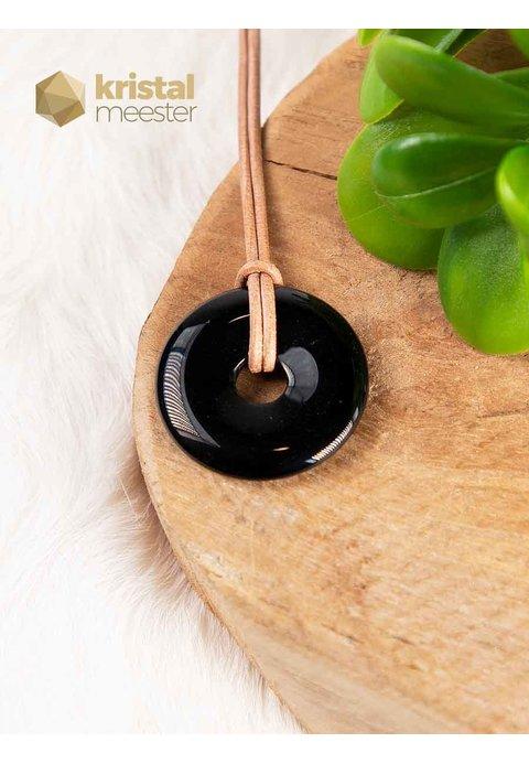 Zwarte Toermalijn Donut - 30 mm