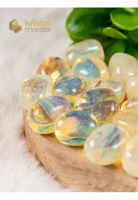 Gele Opaal trommelstenen
