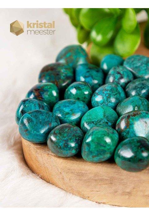 Chrysocolla trommelstenen - maat S