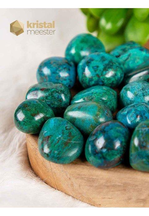 Chrysocolla trommelstenen - maat M
