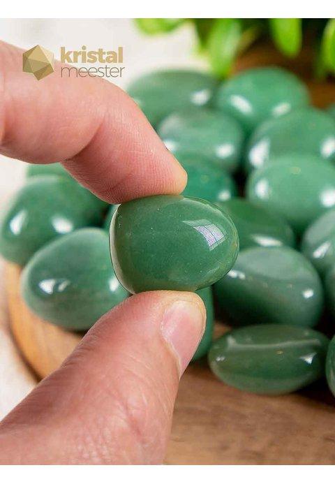 Groene Aventurijn trommelstenen (Brazilië) - maat S