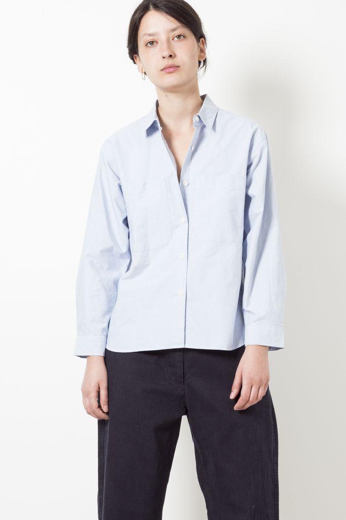 Margaret Howell mhl pinpoint big pocket shirt