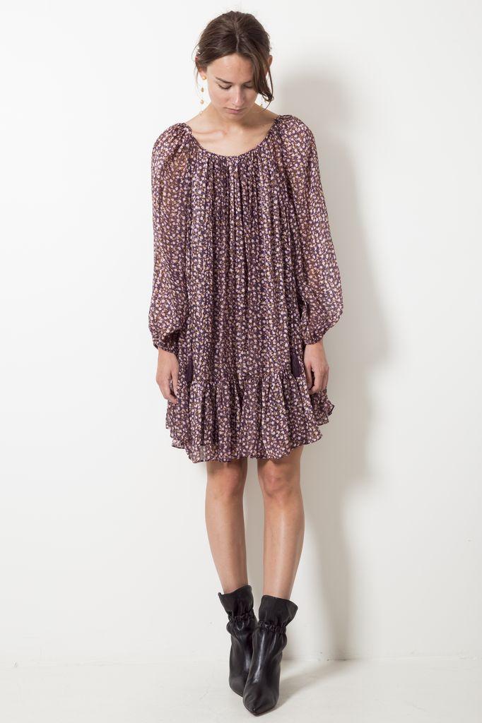 Ulla Johnson adena dress tiny floral lurex georgette