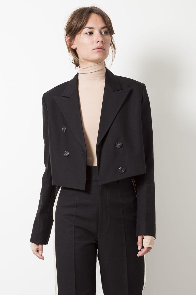 Helmut Lang - cropped tuxedo jacket