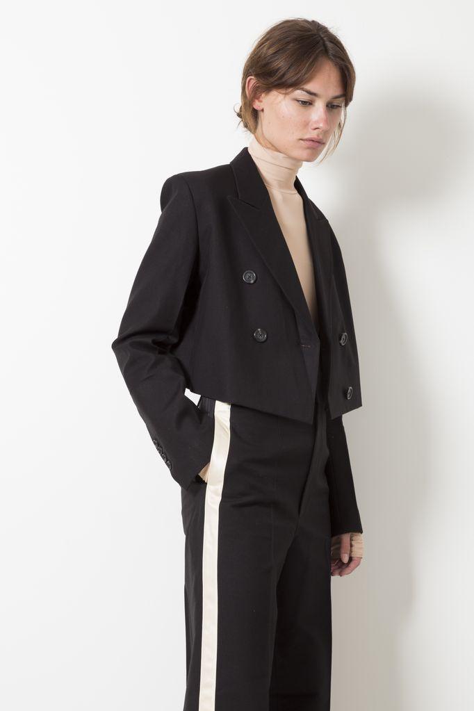 Helmut Lang cropped tuxedo jacket