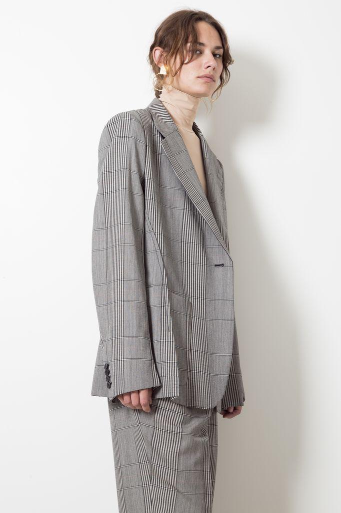 Maison Margiela over check wool jacket