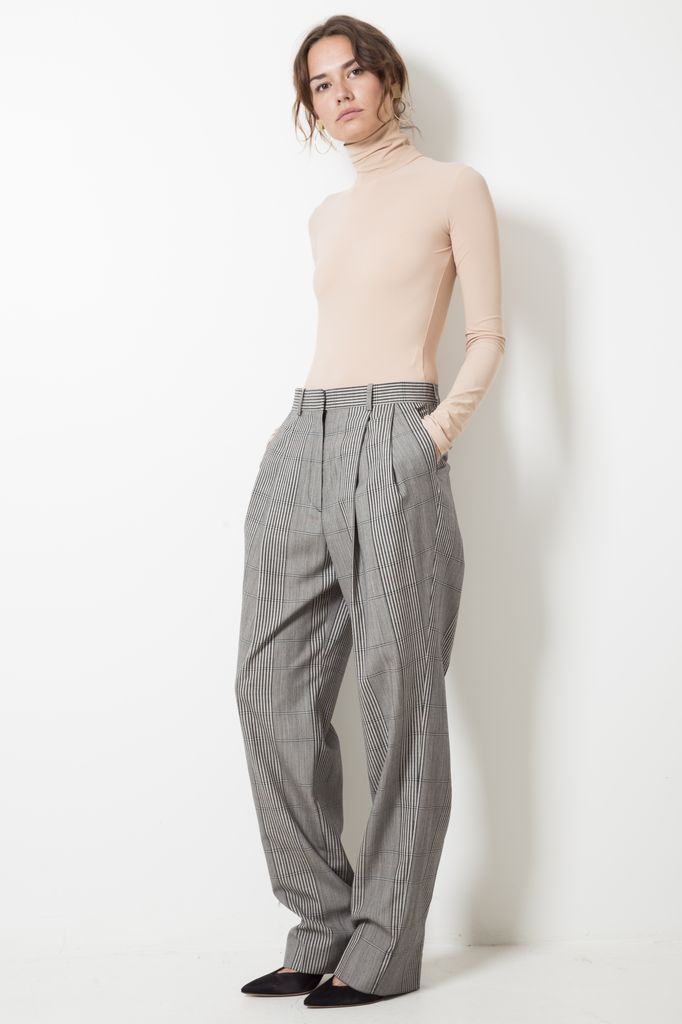 Maison Margiela over check wool trousers