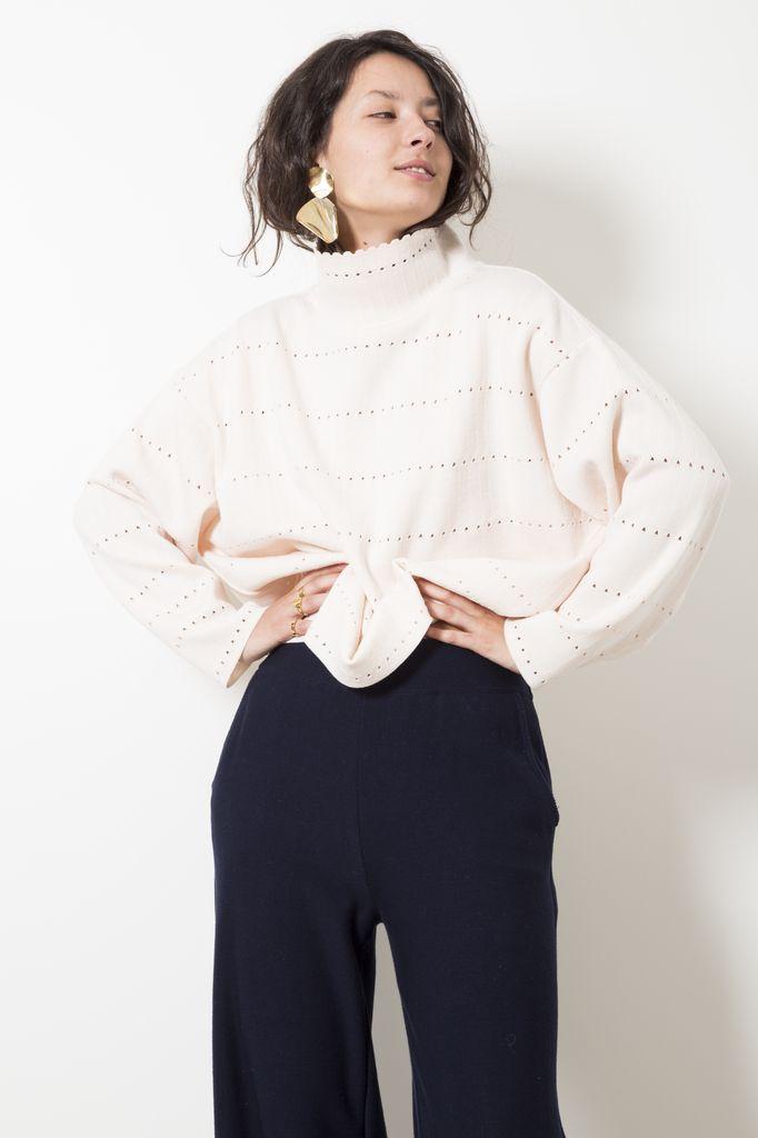 Molli fabia sweater en maille ajouree
