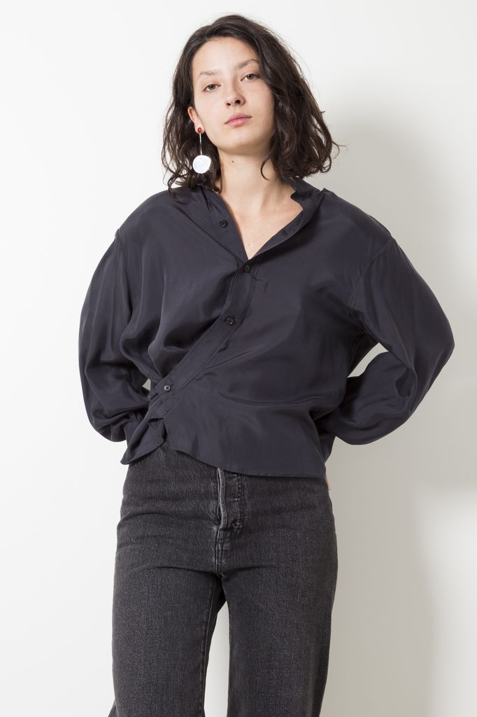 Lemaire silk crepe twisted shirt
