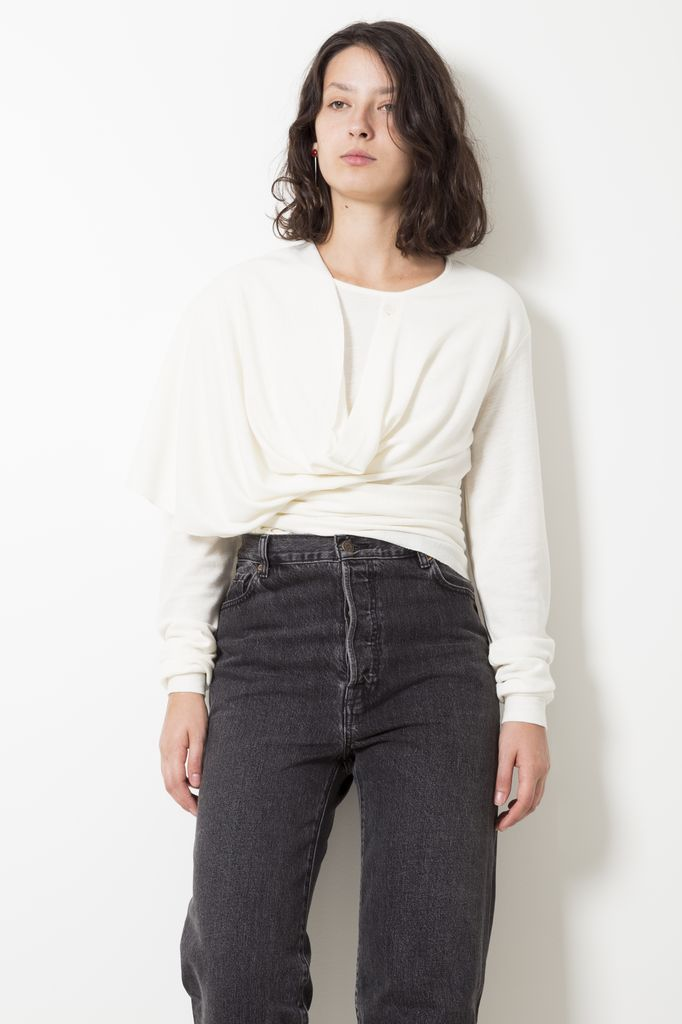 Lemaire KNOTTED MOHAIR VISCOSE TOP