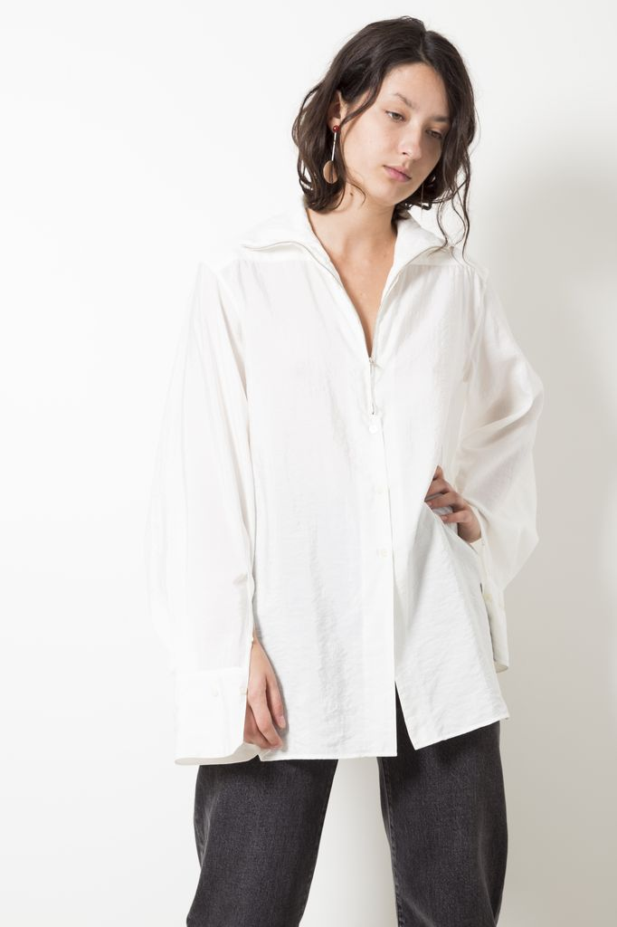 Lemaire DRY SILK HIGH-COLLAR SHIRT