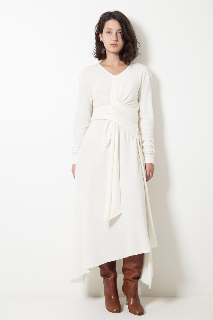 Lemaire KNOTTED MOHAIR VISCOSE DRESS