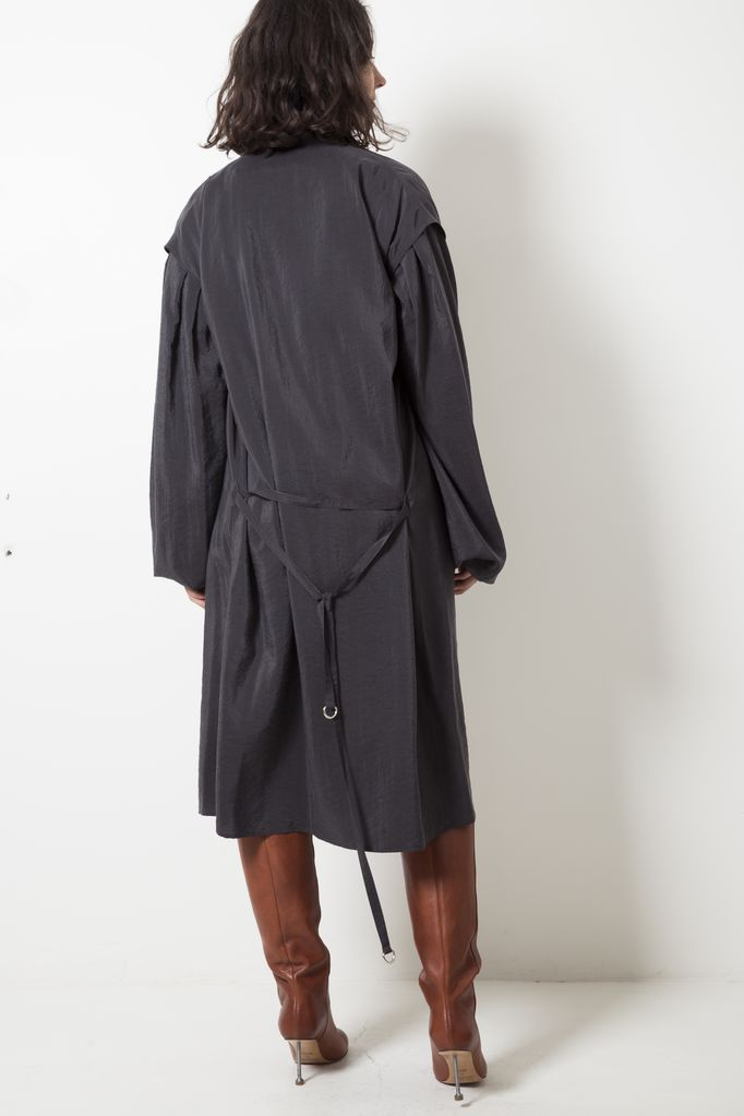 Lemaire LARGE SLEEVE DRY SILK DRESS