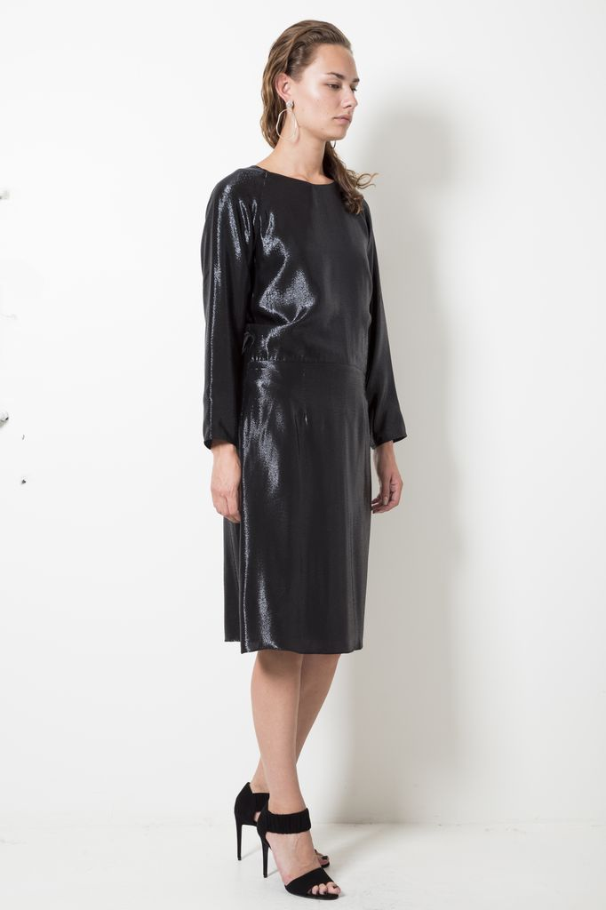 inDRESS - GLITTER DRESS WITH DRAPED BACK