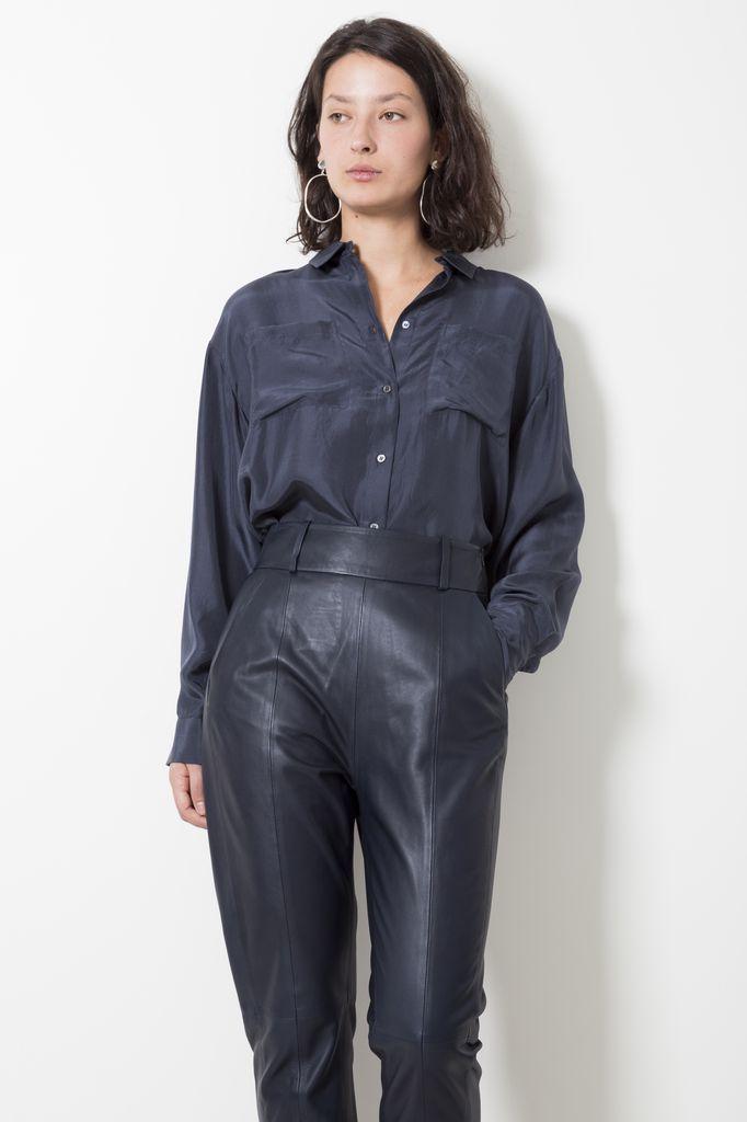 Frenken square 100% silk shirt