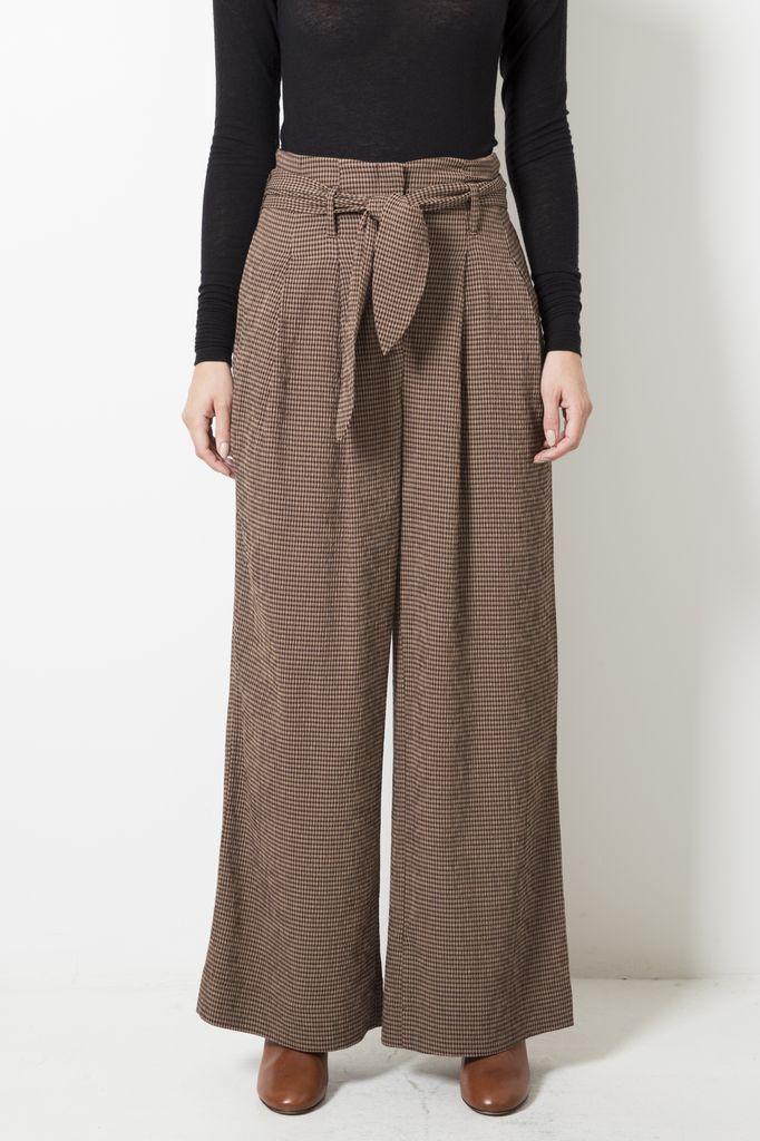 Nanuska nevada brown check trousers
