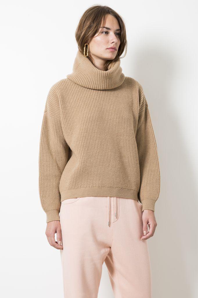 Opportuno kora ribbed turtleneck sweater