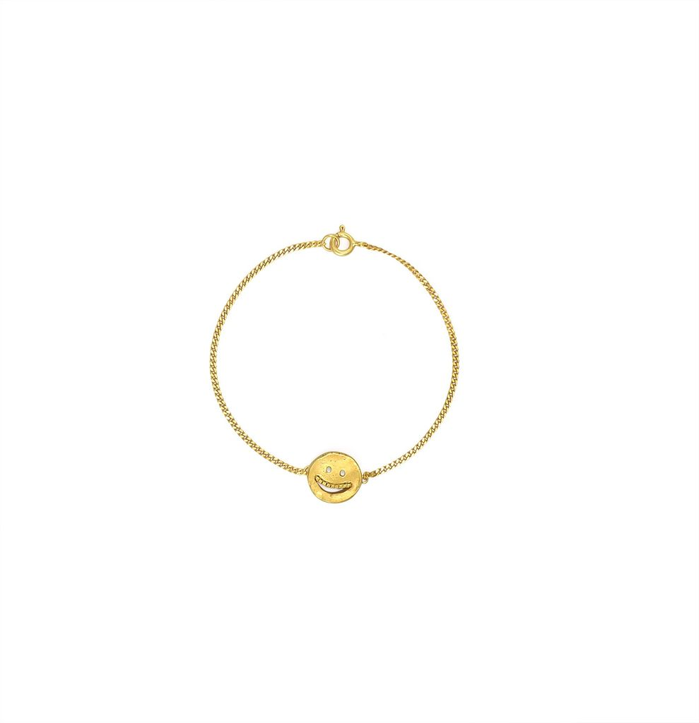 Martine Viergever the grin bracelet, goldplated silver