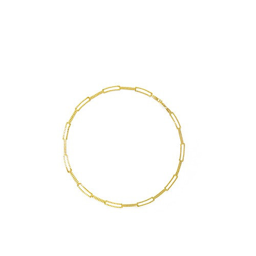 Martine Viergever be square, neckalce short goldplated silver 40cm