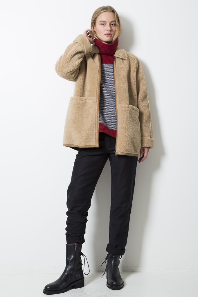 Le Mont Saint Michel Fake fur coat