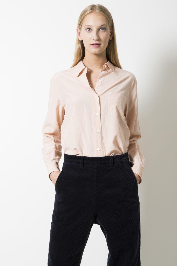 Margaret Howell Cotton and silk plain shirt