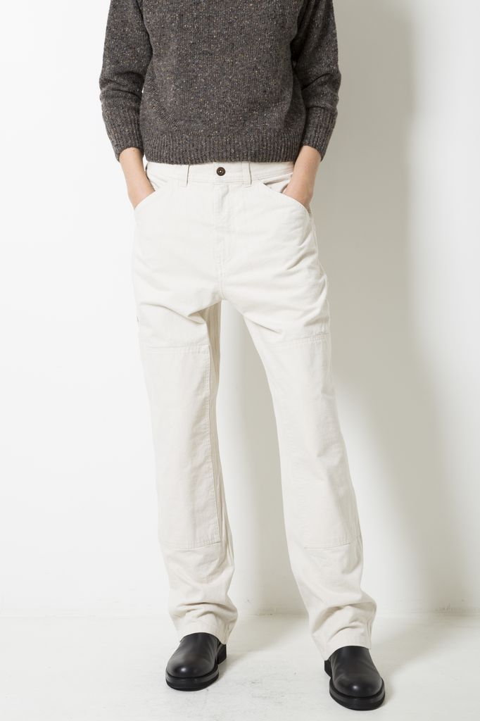 Margaret Howell MHL PAINTERS TROUSERS NATURAL DENIM