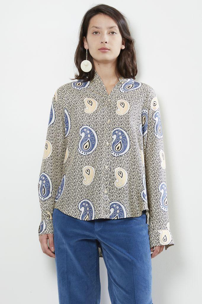 Forte Forte swahili print silkoversized shirt