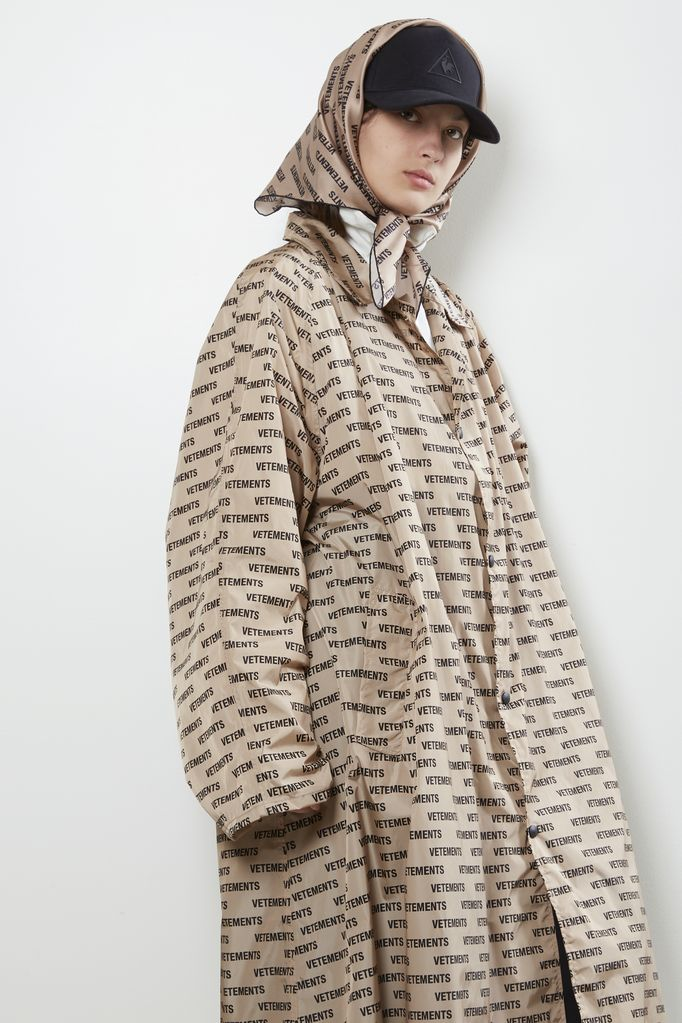 Vetements silk scarf