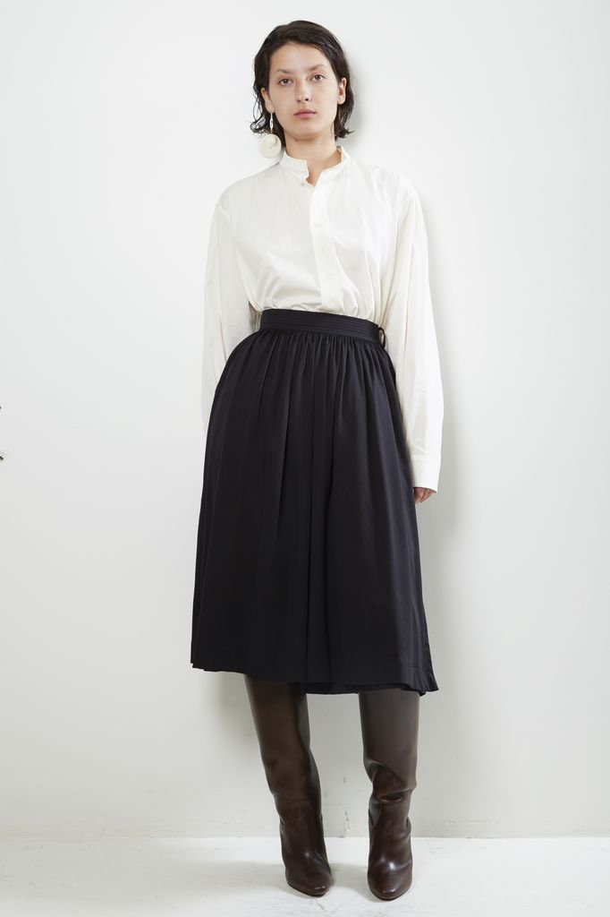 Lemaire wrapover pleated skirt