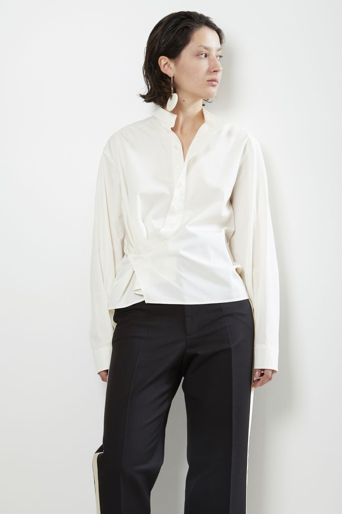 Lemaire Lemaire HIGH COLLAR TWISTED SHIRT