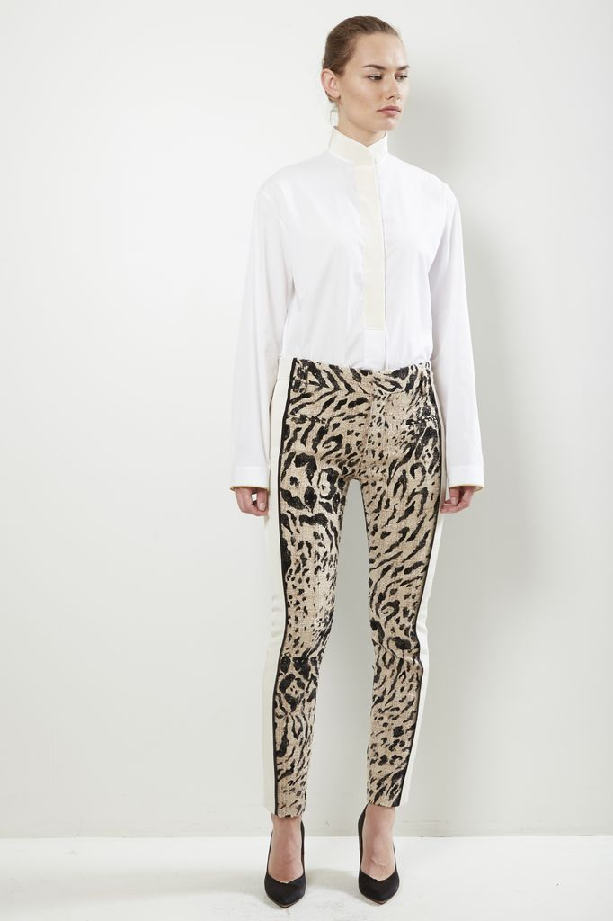 Haider Ackermann Haider Ackermann TROUSERS WITH STRIPE DETAIL 10CM