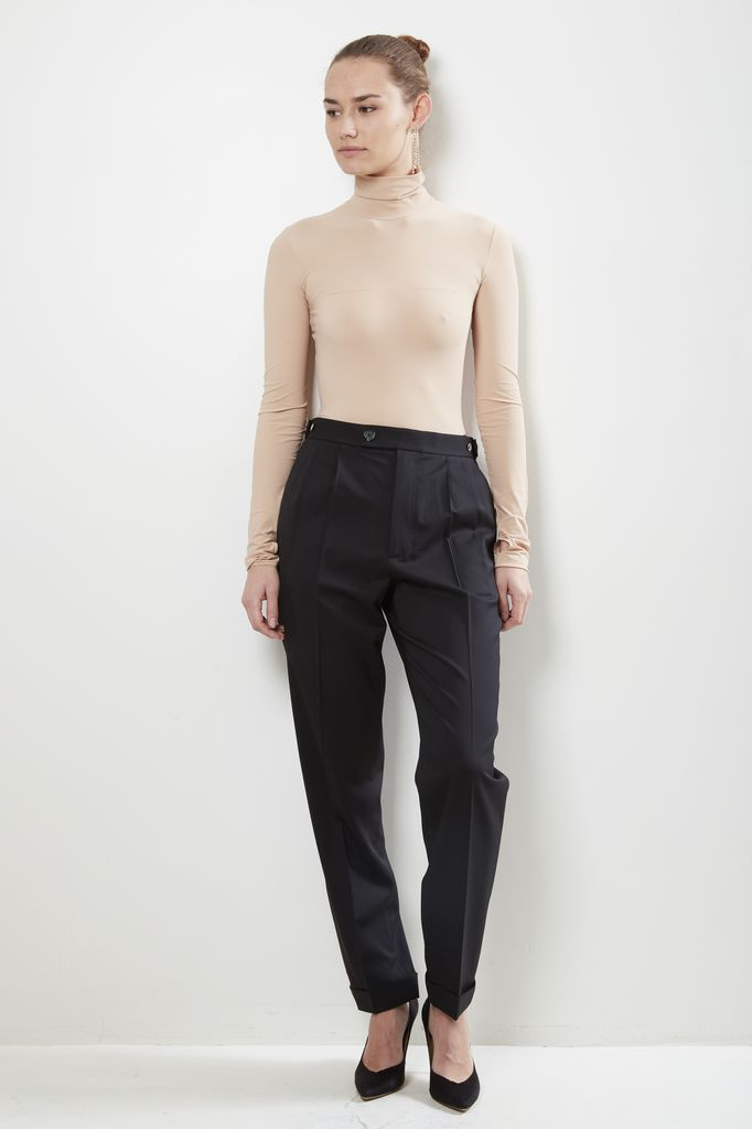 Helmut Lang - pleated tapered pant