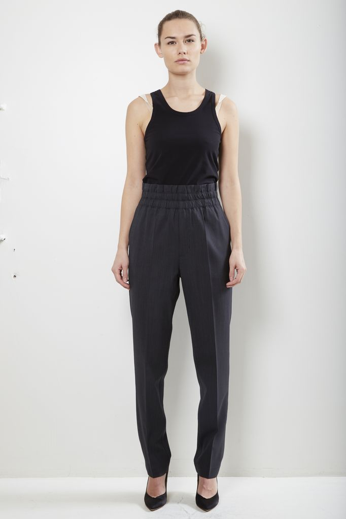 Helmut Lang pleated pull on tapered pant